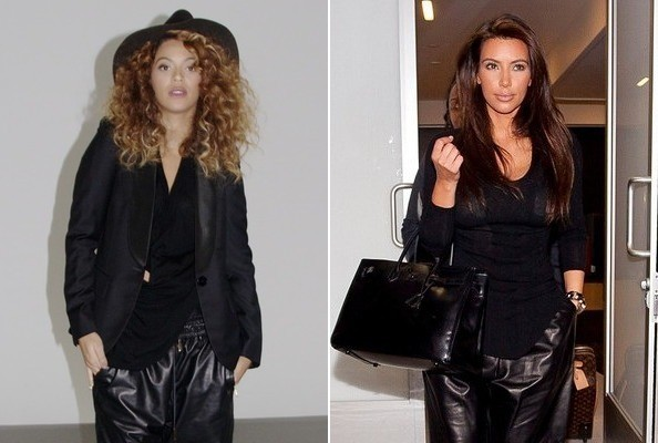 Who Wore Leather Harem Pants Better: Beyonce vs. Kim Kardashian