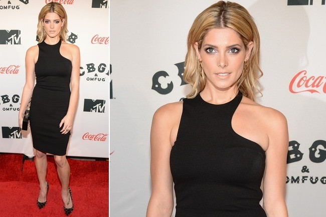 Ashley Greene's Sporty Little Black Dress