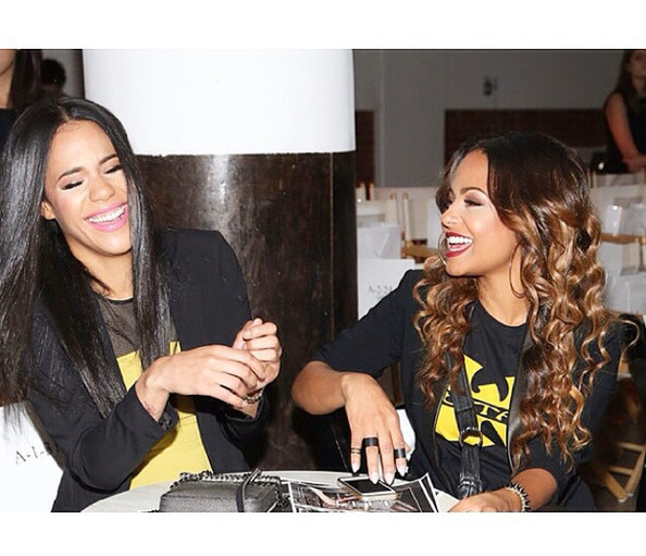 Christina Milian had a laugh with her sister. - Celebrity ...