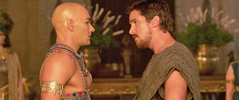 Joel Edgerton and Christian Bale in 'Exodus: Gods and Kings.'