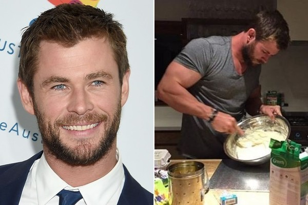 Chris Hemsworth Flexes His Daddy Muscles to Bake a Birthday Cake for His Daughter