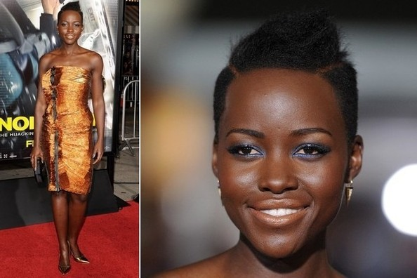 Lupita Nyong'o Wears Cobalt and Copper With Absolute Aplomb