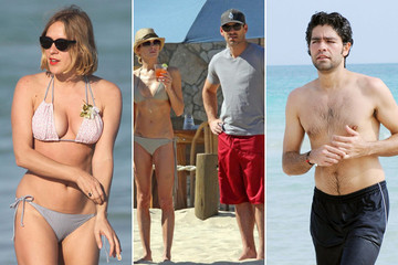 Celebs Spend Their Winter Holiday at the Beach