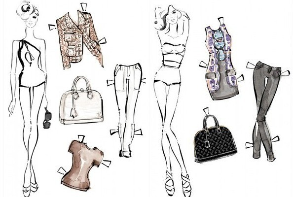 Louis Vuitton Launches Designer Paper Dolls