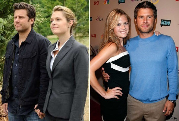 Maggie Lawson with her ex-boyfriend James Roday
