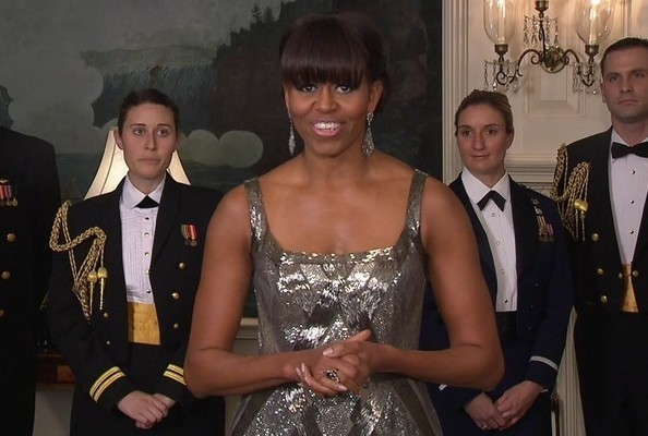 Michelle Obama Presented the Oscar For Best Picture in This Designer's Dress