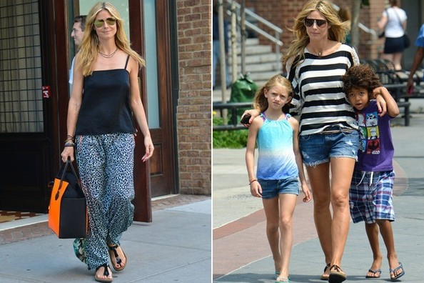 Heidi Klum Makes the Case for Birkenstocks