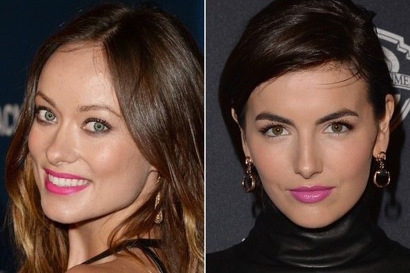 Olivia Wilde and Camilla Belle Stun in Bright Pink Lipstick (Worn Different Ways)