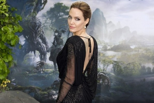 Angelina Jolie's Backless Versace Gown