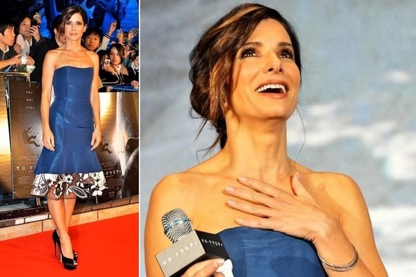 Sandra Bullock Wearing Our Favorite Color Combo