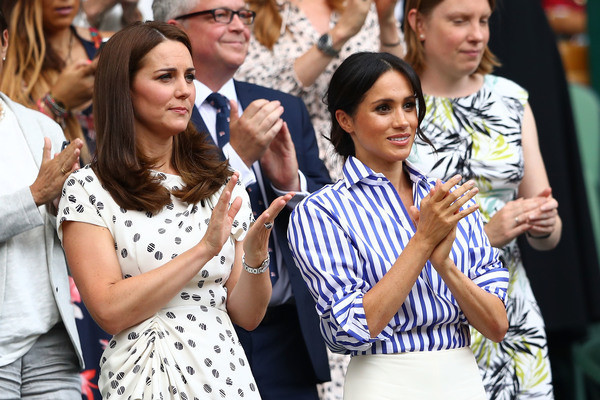 Kate Middleton and Meghan Markle Make Their First Solo Appearance Together to Cheer on Female Tennis Players at Wimbledon