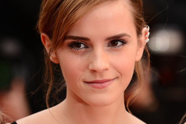 Emma Watson Sparkles in Backless Chanel Couture