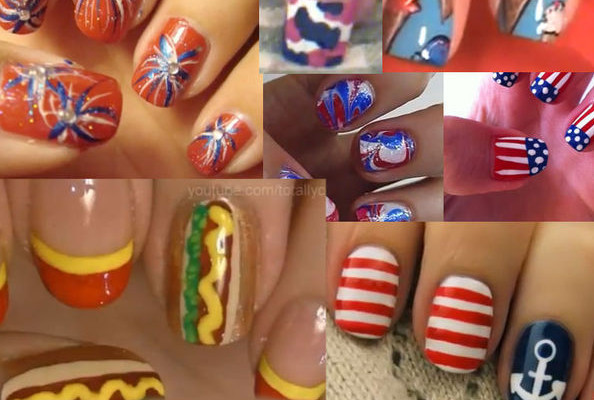 Videos of the Day: 10 Patriotic Nail DIYs for the Fourth of July