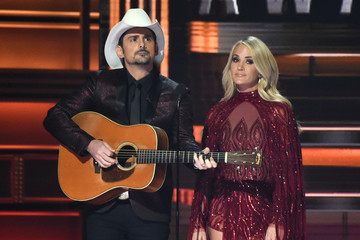 Carrie Underwood and Brad Paisley Poke Fun at Trump in CMA Awards Monologue