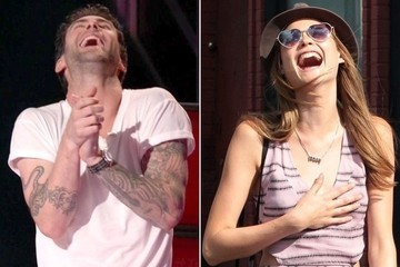 Adam Levine and Behati Prinsloo's Synchronized Romance