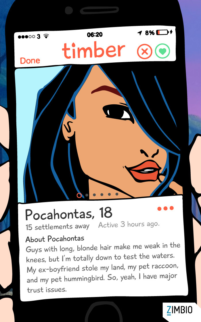 This Is What Would Happen if Disney Characters Entered the World of Online Dating