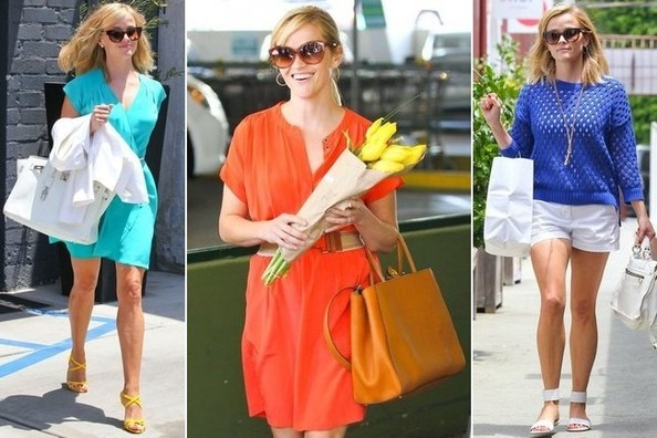 Reese Witherspoon's Bold Bright Street Style