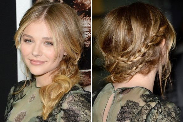 Look We've Got to Try: Chloe Grace Moretz's Braided Ponytail