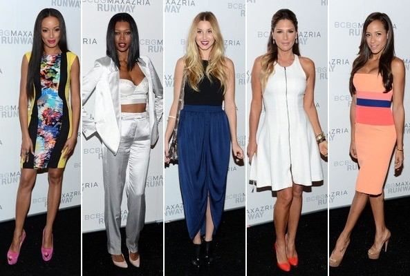 BCBGMaxAzria Spring 2013 Show Report - All the Celebs, Lace Looks, & Hairstyle Ideas