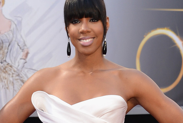 Kelly Rowland's Sculptural Donna Karan Atelier Gown [PHOTOS]