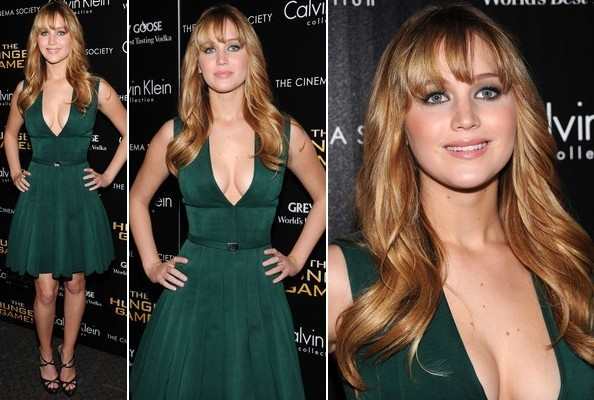 Look of the Day: Jennifer Lawrence Goes Green