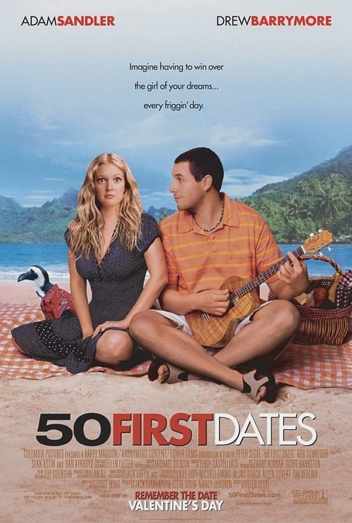50 first dates anterograde amnesia Anterograde amnesia: 50 first dates fifty first dates was a very comedic and fascinating movie to watch i enjoyed my experience and laughed many times throughout the film.