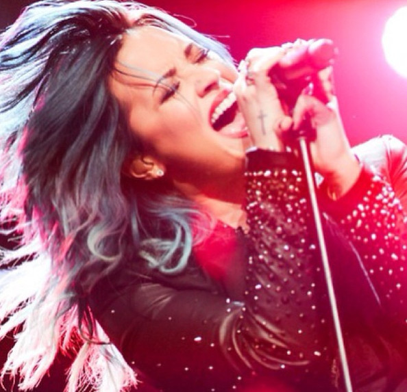 Demi Lovato rocks out.