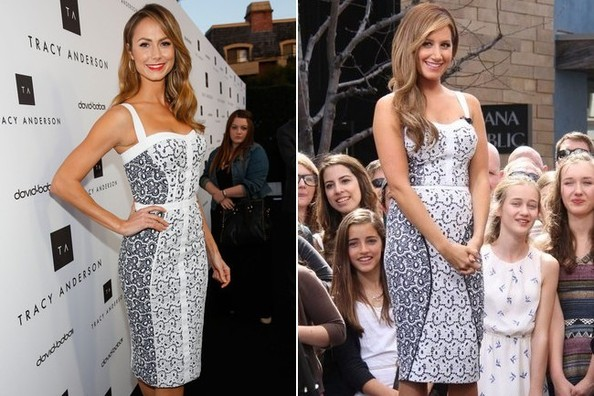 Who Wore Rebecca Minkoff's Eyelets Better: Stacy Keibler or Ashley Tisdale?
