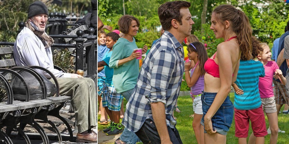 (L-R) Richard Gere in Time Out of Mind, Jason Sudeikis and Alison Brie in Sleeping with Other People. (Photos: IFC Films)