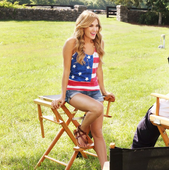 Carrie Underwood's feeling patriotic.