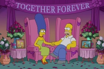 Homer and Marge Speak Out About Rumored Marriage Problems