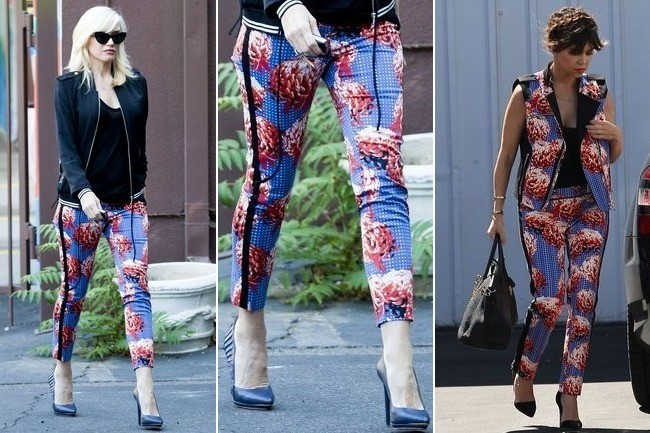 Who Wore L.A.M.B.'s Print Pants Better: Gwen Stefani or Kourtney Kardashian?