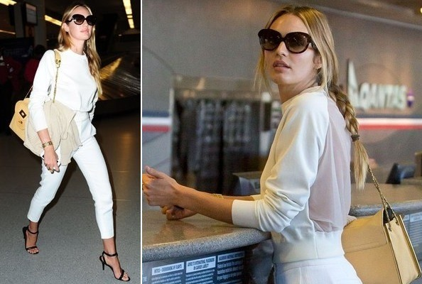 Candice Swanepoel's Luxe Airport Whites