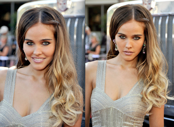The quick and easy hairstyle Isabel Lucas wore to the L.A. premiere of