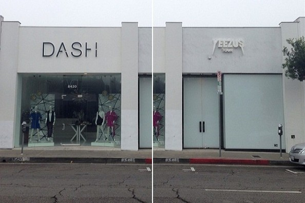 Guess Where Kanye's Newest Popup Shop is Located?