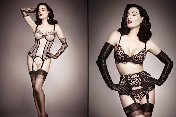 Red-Hot and Retro: Dita Von Teese's New Lingerie Line