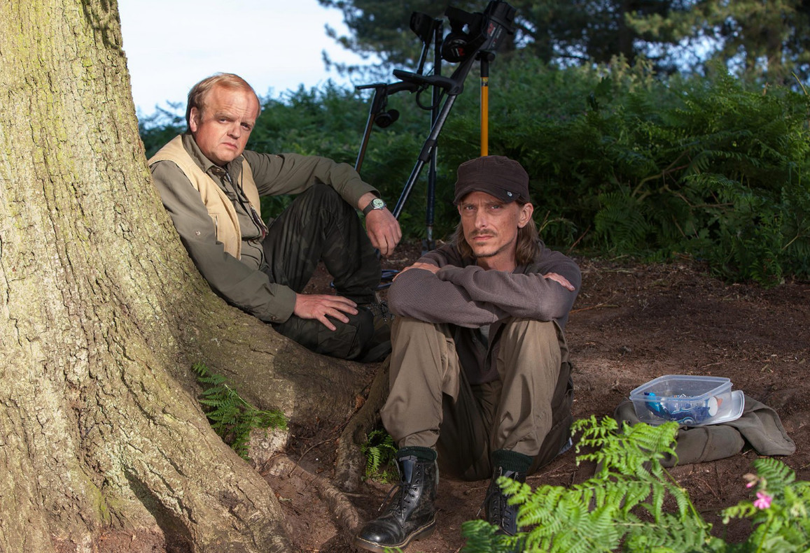 Toby Jones and Mackenzie Crook on The Detectorists. (BBC)