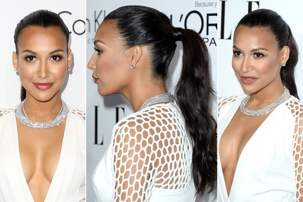 Stuck in a Ponytail Rut? Try Naya Rivera's Simple Hairstyling Trick