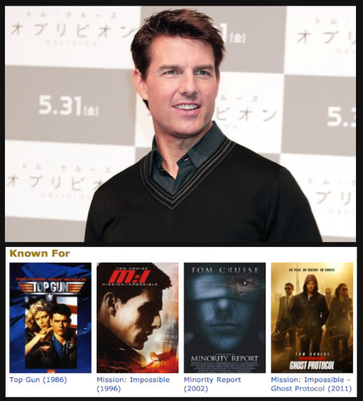Tom Cruise's IMDb Top 4 - Guess What IMDb Thinks These ...