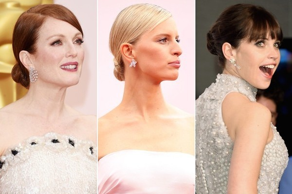 From left to right: Julianne Moore, Karolina Kurkova, Felicity Jones