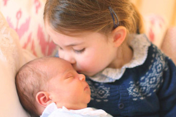 We're Dying Over This Photo Of Princess Charlotte Snuggling Her Newborn Baby Brother