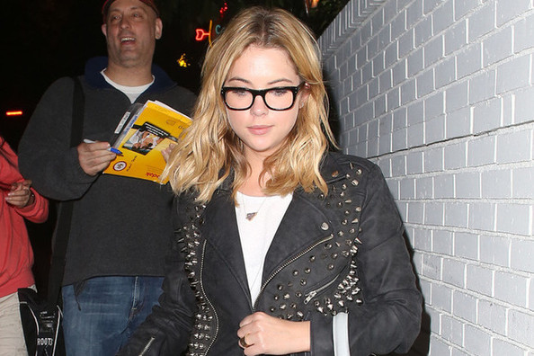 Found: Ashley Benson's Studded Faux Leather Jacket