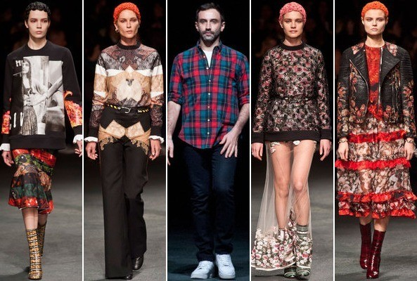 Guess What Brand Plaid Shirt Riccardo Tisci Wore on the Givenchy Runway?