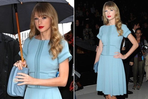 Look of the Day: Taylor Swift in Sky Blue