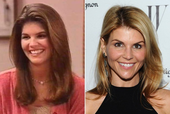 Lori Loughlin now and then