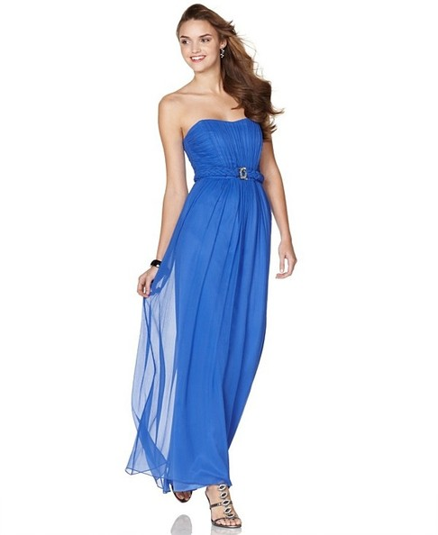 3b6db313c89 Max   Cleo Strapless Chiffon Gown with Empire Waist Price   123.99.  Available at Macy s