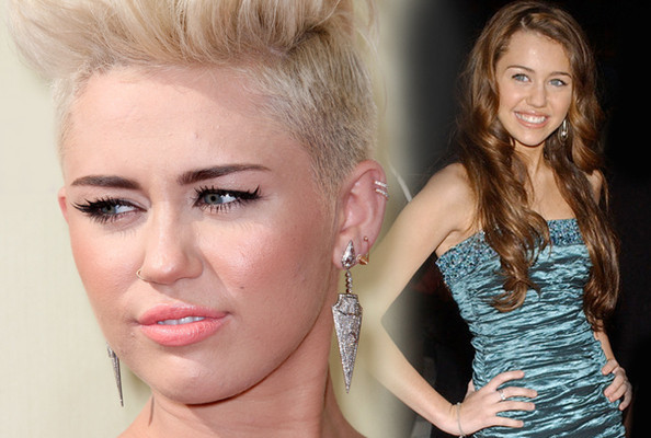 Flashback Friday - Miley Cyrus Then & Now