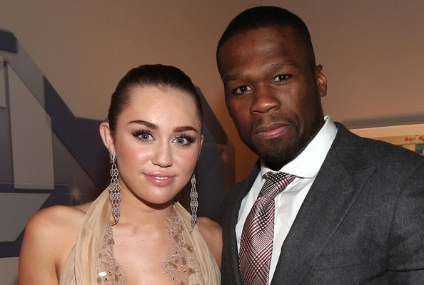 Spotted: Miley Cyrus and 50 Cent Backstage at the American Giving Awards