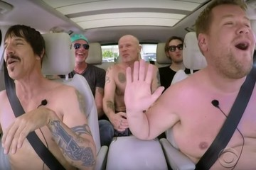 Red Hot Chili Peppers Get Half Naked to Sing Their Hits With James Corden on 'Carpool Karaoke'