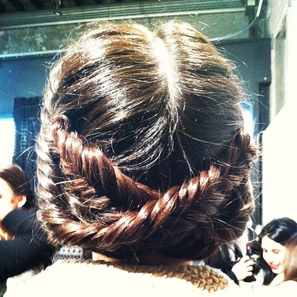 Beauty How-To: Gorgeous Fishtail Braids & Smoky Eyes Backstage at Christian Siriano
